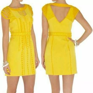 NEW! Auth KAREN MILLEN yellow dress Sz US 6